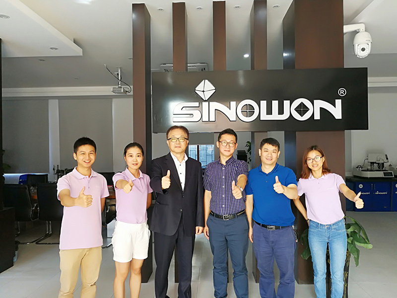 Korean JIST Professor  Ji  had visited  Sinowon headquater in August 2017